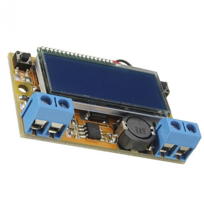DC-DC converter step down, IN: 5-23V, OUT: 0-16,5V (3A) display ( DC372)