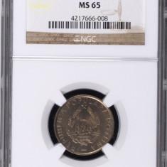 25 BANI 1955 MS 65 NGC - MONEDA DE COLECTIE - Moneda Romania