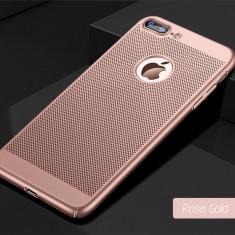Husa iPhone 7 Plus 8 Plus Perforata Rose Gold - Husa Telefon Apple, Roz, Plastic, Fara snur, Carcasa