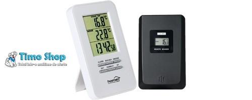 Termometru fără fir pentru interior şi exterior cu ceas deşteptător HC 11 foto mare