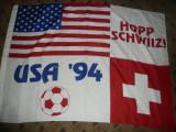 Steag al SUA si Elvetiei la Campionatele Mondiale Fotbal 1994 , dim.= 134x97 cm