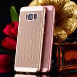Husa Samsung Galaxy S6 Edge Perforata Gold, Auriu, Plastic