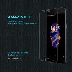 Geam OnePlus 5 Tempered Glass H by Nillkin - Folie de protectie OnePlus, Lucioasa