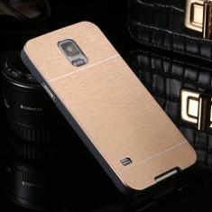 Husa aurie GOLD aluminiu + plastic Samsung Galaxy S5
