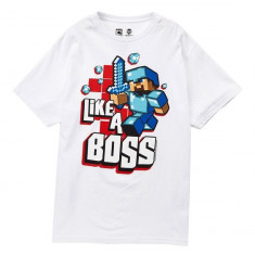 Tricou Minecraft T-Shirt Like A Boss !!! 7-13 ani + CADOU - Original JINX !!, YL, YM, YS, Din imagine, Unisex