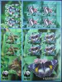 AITUTAKI - WWF FLUTURI, 4 M/SH, NEOB. - CW 24, Fauna