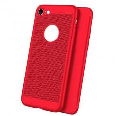 Husa iPhone 5 5S SE Perforata Rosie - Husa Telefon Apple, Rosu, Plastic, Fara snur, Carcasa
