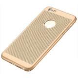 Husa iPhone 5 5S SE Perforata Gold, iPhone 5/5S/SE, Auriu, Plastic, Apple