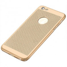 Husa iPhone 5 5S SE Perforata Gold - Husa Telefon Apple, Auriu, Plastic, Fara snur, Carcasa