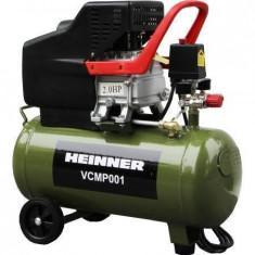 Compresor auto de aer Heinner VCMP001, 24 L, 2 CP, 8 BAR, Compresoare cu piston
