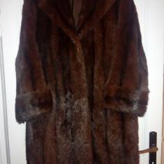 Palton din blana de Nurca - haina de blana