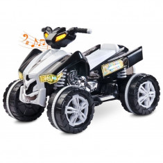 ATV Electric Toyz Raptor 2x6V Negru - Masinuta electrica copii