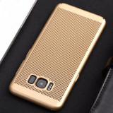Husa Samsung Galaxy S7 Edge Perforata Gold, Auriu, Plastic