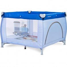 Tarc pentru joaca Caretero Traveler 100x100 cm Blue - Tarc de joaca Caretero, Albastru
