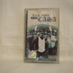 Vand caseta audio Bug Mafia-Casa, cu autograf, originala, rarittae - Muzica Hip Hop cat music, Casete audio