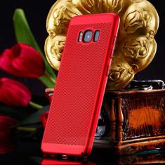 Husa Samsung Galaxy S8 Perforata Rosie, Rosu, Plastic