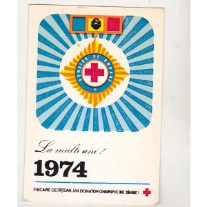 bnk cld Calendar de buzunar 1974 - Crucea Rosie RSR