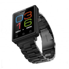 Ceas smartwatch TeamWatch G7-ritm cardiac-cartela SIM-1.54 inch HD touchscreen, Black Edition