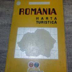 Romania, harta turistica scara 1:1.000.000/ 1939, statiuni Osin in toata tara - Harta Romaniei