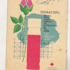 bnk cld Calendar de buzunar 1969 - Crucea Rosie RSR