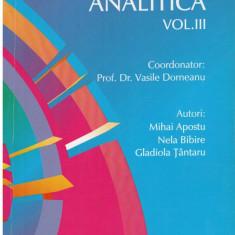 Chimie analitica vol. III - Autor(i): Vasile Dorneanu, Gladiola Tantaru, Mihai Apostu, - Carte Chimie
