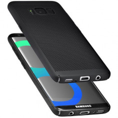 Husa Samsung Galaxy S7 Edge Perforata Black, Negru, Plastic