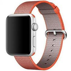 Curea pentru Apple Watch 38 mm iUni Woven Strap, Nylon, Red Velvet - Curea ceas cauciuc