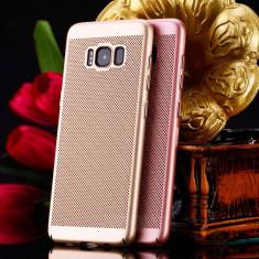 Husa Samsung Galaxy S6 Edge Plus Perforata Gold - Husa Telefon Samsung, Auriu, Plastic, Fara snur, Carcasa