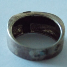 Inel argint cu onix vintage -2016