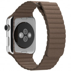 Curea piele pentru Apple Watch 42 mm iUni Brown Leather Loop