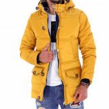 Geaca iarna mustar - geaca barbati - geaca slim fit COLECTIE NOUA 9255 L4