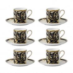 Set 6 cesti cu farfurii de cafea Cornucopia Can