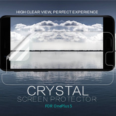 Folie OnePlus 5 Transparenta by Nillkin - Folie de protectie OnePlus, Lucioasa