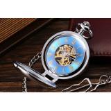 Ceas de Buzunar Mecanic cu Lupa Numere Romane WPK1