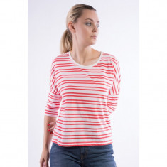 Bluza Only Onlcelina 3/4 Cloud Dancer Stripes Bittersweet