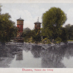 BUZAU, BUZEU, VEDERE DIN CRANG, CIRCULATA 1927 - Carte Postala Muntenia dupa 1918, Printata