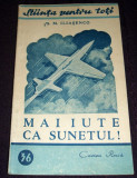 Mai iute ca sunetul, Stiinta pentru toti, Cartea Rusa 1949, ilustratii, Alta editura