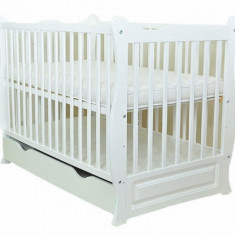 Patut multifunctional Eva Clasic White Mamo-Tato - Patut lemn pentru bebelusi