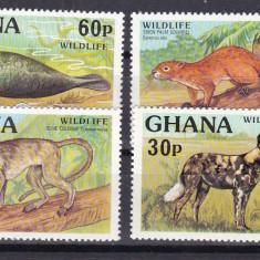 Ghana 1977 fauna WWF MI 702-705 MNH w46 - Timbre straine, Nestampilat