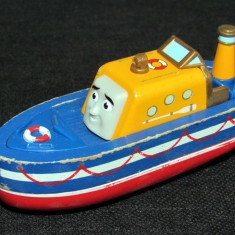Thomas and Friends ✯ Rare Wooden Railway ✯ CAPTAIN ✯ Wooden Boat ✯ 2010 - Trenulet, Locomotive