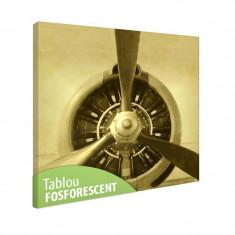 Tablou fosforescent Motor cu elice - Tablou canvas