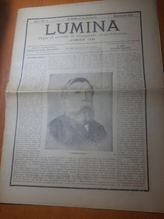 ziarul lumina septembrie 1895-friedrich engels a incetat din viata