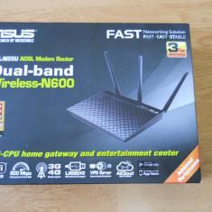 Router wireless N600 ASUS DSL-N55U ADSL Gigabit Dual-Band., Port USB, Porturi LAN: 4, Porturi WAN: 1