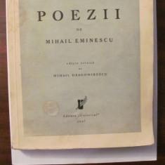 "GE - Mihail EMINESCU ""Poezii"" editie critica Dragomirescu 1937 coperte originale"