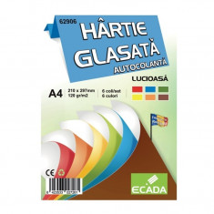 Hartie glasata autocolanta A4 6 culori/set, 10 seturi