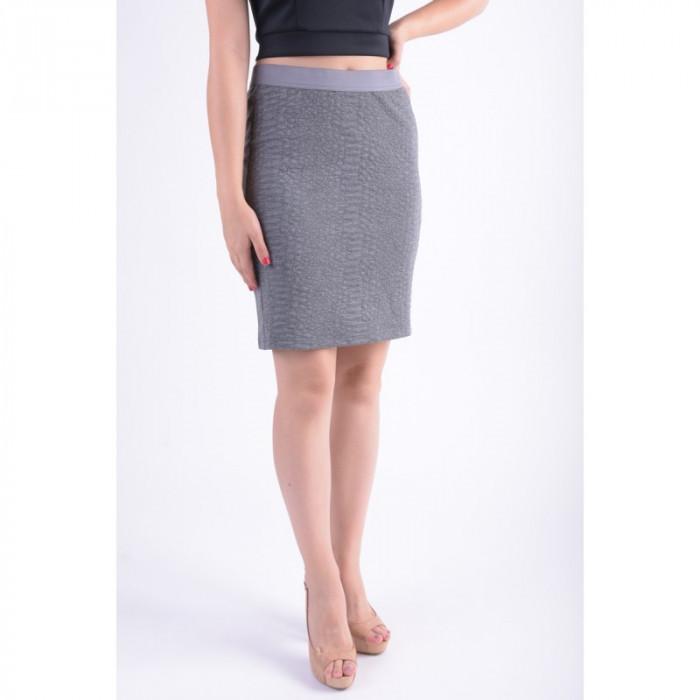 Fusta Vero Moda Vmangela Snake Nw Abk Skirt Medium Grey foto mare