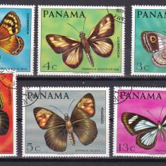 Panama 1968 fauna fluturi MI 1056-1061 stamp. w46 - Timbre straine, Stampilat