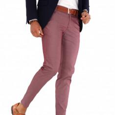 Pantaloni grena eleganti  - pantaloni barbati - 9280, Din imagine