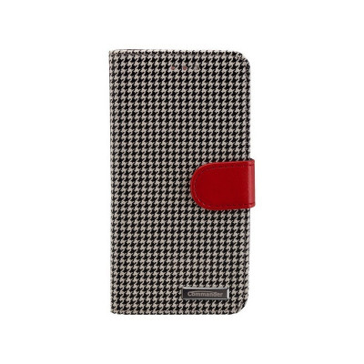 BOOK CASE PEPITA for Apple iPhone 6 / 6S Culoare Negru - Alb foto