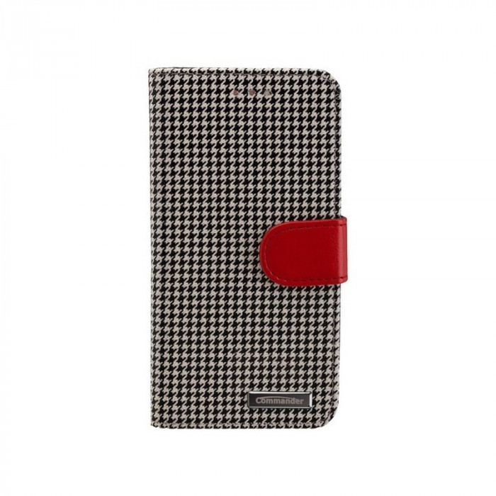 BOOK CASE PEPITA for Apple iPhone 6 / 6S Culoare Negru - Alb foto mare